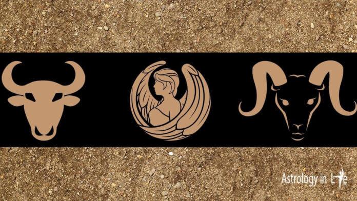 earth zodiac signs Taurus Virgo capricorn