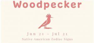 WoodPecker Native American Zodiac Signs